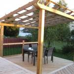 Le nouvel ensemble de patio...